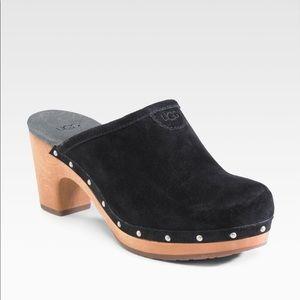 UGG Black Suede Clogs